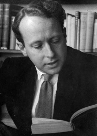 Bruce Mason reading aloud from one of his plays, 1940s